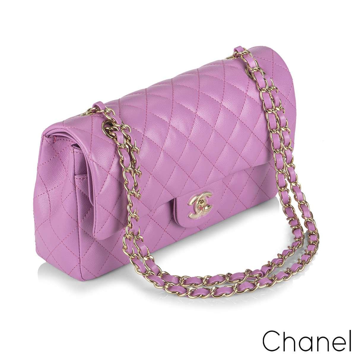 Chanel Lilac Caviar Medium Classic Double Flap Bag